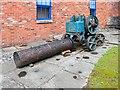 SJ9398 : Victorian Stonebreaker outside Portland Basin Museum by David Dixon