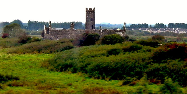 County Clare - N85 (Southeast of Ennis) - Clare Abbey Ruins
