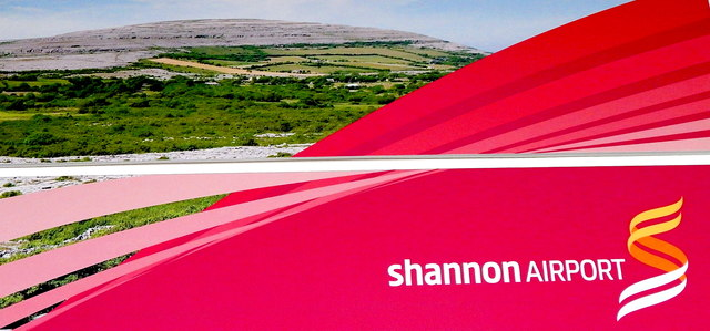 County Clare - Shannon Airport Interior - Sign showing The Burren