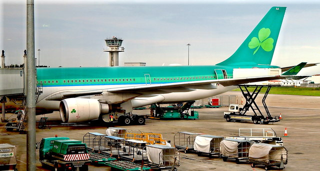 County Clare - Shannon Airport - Air Lingus Plane to New York - JFK