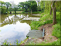 SJ3475 : Fishing lake, Inglewood Manor by Oliver Dixon