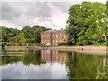 SJ7387 : Moat and Hall, Dunham Massey (Stamford Military Hospital) by David Dixon