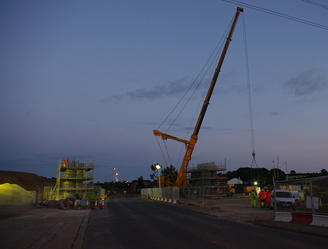 Bridge construction over Slyne Road (A6)