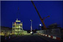 SD4764 : Bridge construction over Slyne Road (A6) by Ian Taylor