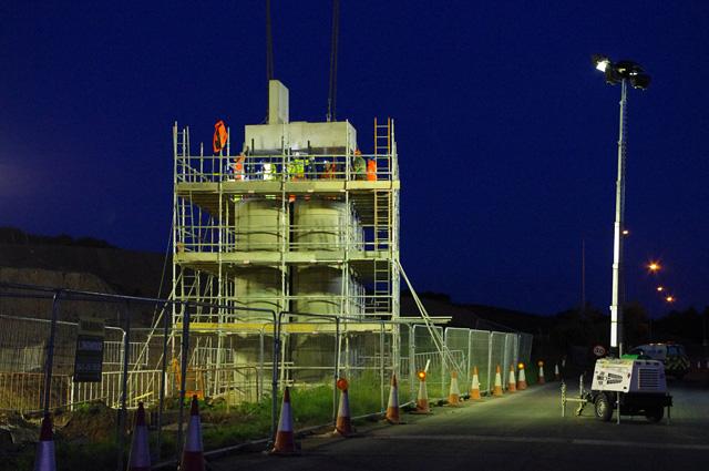 Bridge construction over Slyne Road (A6)