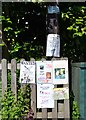 SX8255 : Notices on the corner of Priory View, Cornworthy by Robin Stott