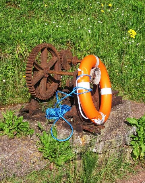 Cogwheel and lifebelt, Watcombe Beach