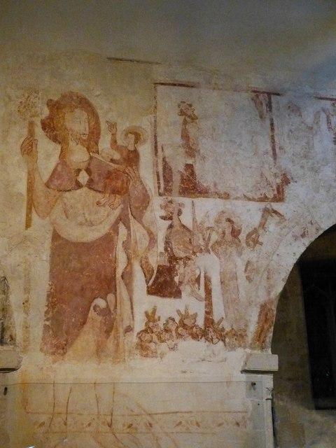St John the Baptist - Wall paintings - St Christopher