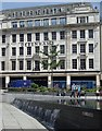 SK5739 : Water feature and Debenhams store, Nottingham by Andrew Hill