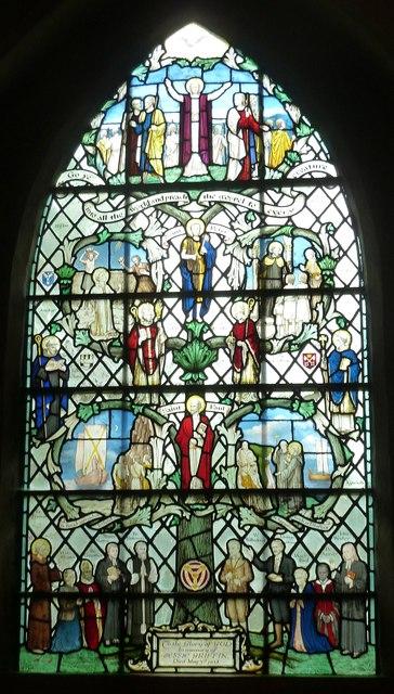 "St John the Baptist - ""Tree""  window (left)"
