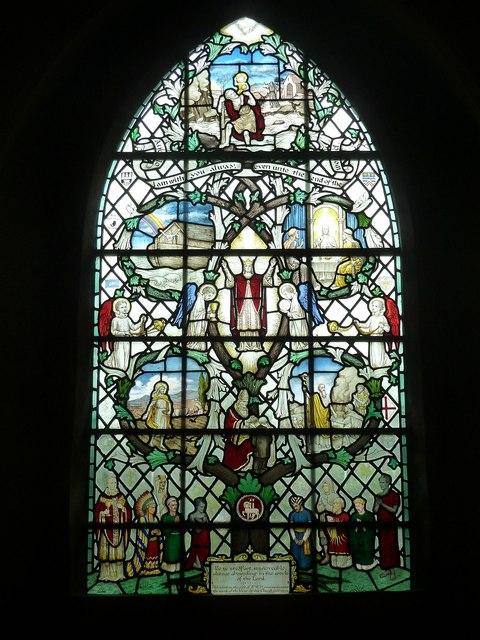 "St John the Baptist - ""Tree""  window (right)"