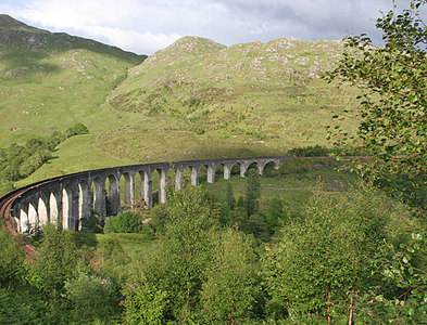 NM9081 : Glenfinnan Viaduct by Anne Burgess