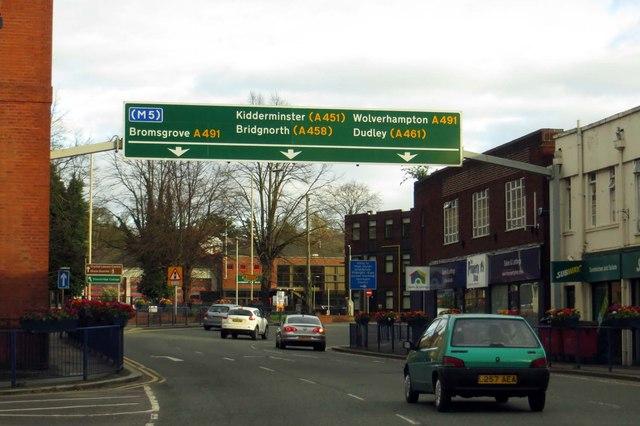 St John's Road in Stourbridge