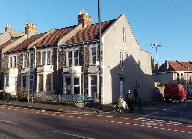 Corner of Gloucester Road and Strathmore Road, Bristol