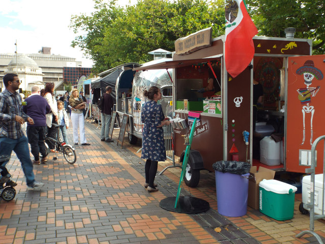 The Mexican Bean and other street food outlets, Centenary Square, Birmingham