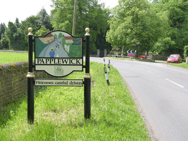 Papplewick village sign, Blidworth Waye