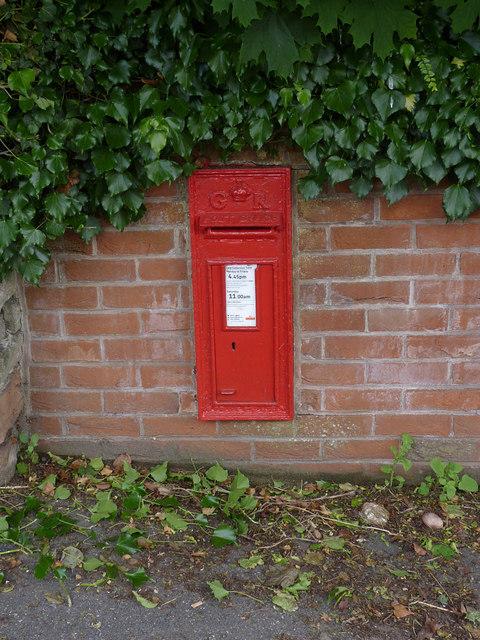 Blidworth Main Street postbox ref NG21 107