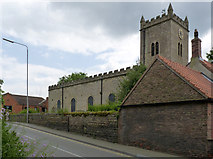 SK5855 : Blidworth Church from Ricket Lane by Alan Murray-Rust