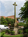 SK6456 : War memorial cross, Farnsfield by Alan Murray-Rust