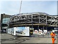 SP0786 : New Street Station, Construction Work From Queens Drive by Roy Hughes
