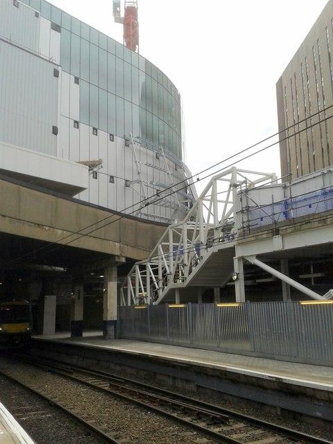 New John Lewis Store Under Construction From Platform 11b