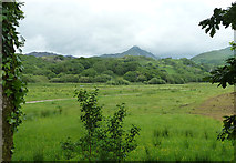 SH6143 : Fields near Pont Garreg-Hylldrem by Peter Bond