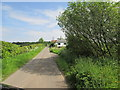 NX9858 : A  straight  section  of  single  track  road by Martin Dawes