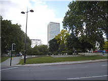 TQ2780 : Green by Cumberland Gate, Marble Arch by David Howard