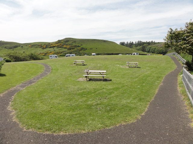 Footpath and benches