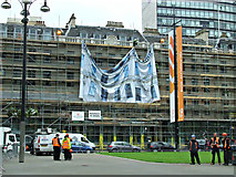NS5965 : Scaffolding on the Millennium Hotel by Thomas Nugent