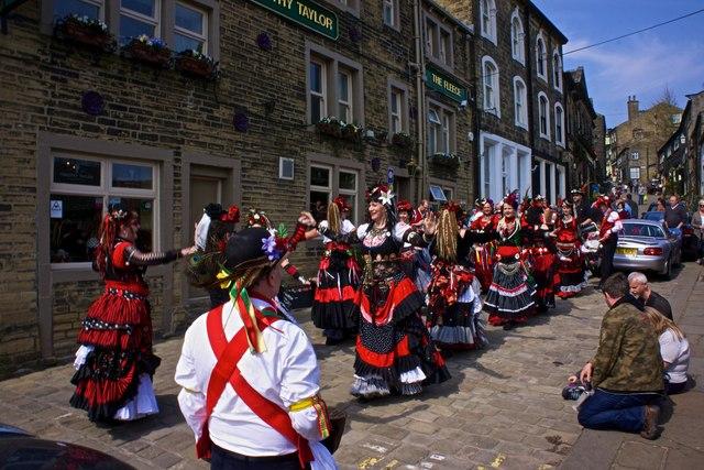 Folk and Morris Dancers, Haworth