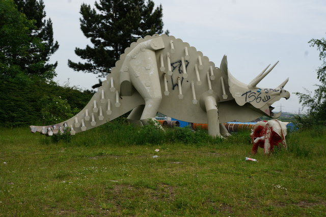 Sculpture at Teesaurus Park, Middlesbrough