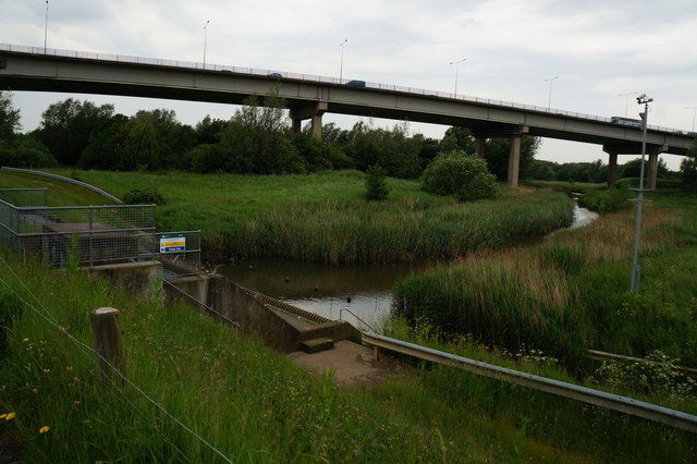 Portrack Outfall next to the River Tees