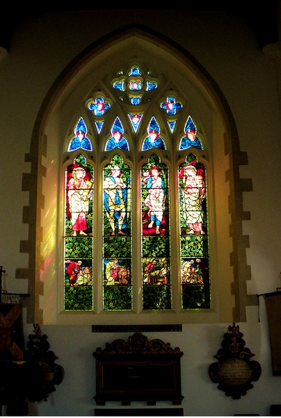 Stained glass window, Old Hatfield