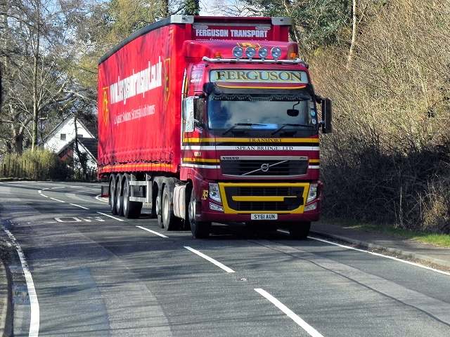 HGV on the A82