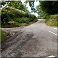 SO1419 : Unsuitable road for HGVs, Llangynidr by Jaggery