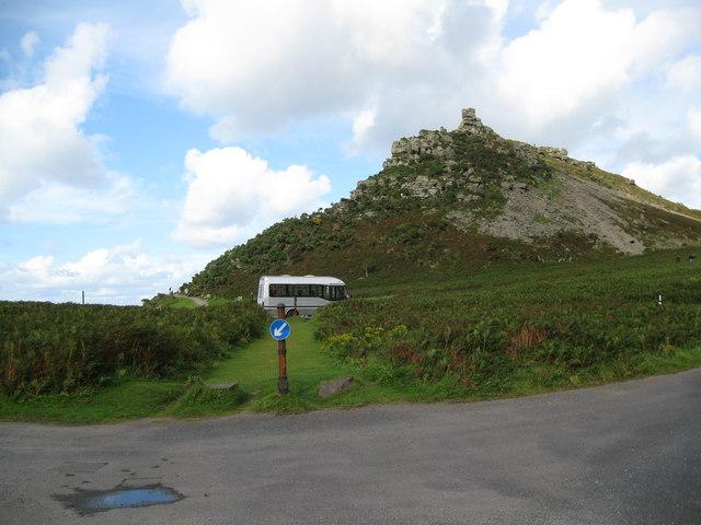 Rural roundabout-Lynton, North Devon
