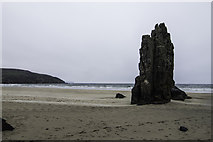 NB5349 : Sea Stack at Garry Beach by Peter Moore