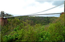 ST5673 : Clifton Suspension Bridge viewed from The Lookout, Bristol by Jaggery