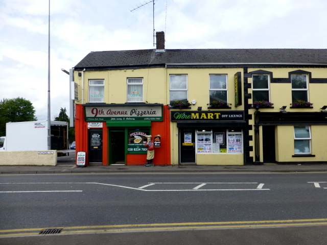 9th Avenue Pizzeria / Wine Mart, Omagh by Kenneth  Allen
