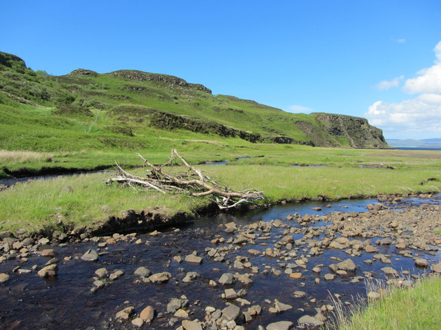 Allt-Diubaig flowing down into the loch