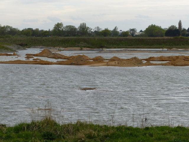 Flooded gravel pit on Baston Fen