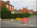 SK8595 : Station Road closed by Jonathan Thacker