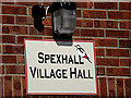 TM3780 : Spexhall Village Hall sign by Adrian Cable