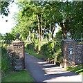SX8254 : Gate pillars, entrance to Broadridge Farm by Robin Stott
