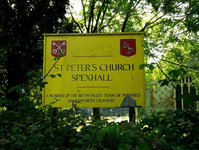 St.Peter's Church sign