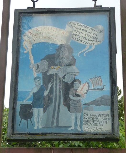 Great Kimble - St Nicholas - Signboard (south)