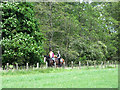 NT2449 : Horse riders on the trackbed of the former Peebles railway by Oliver Dixon