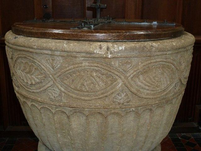 Monks Risborough - St Dunstans - Font detail