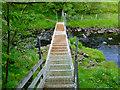 NG3435 : Footbridge over the Ardtreck Burn by John Allan